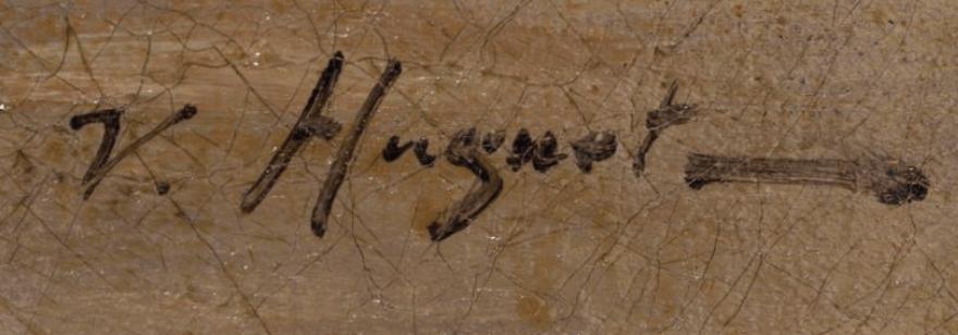 signature Victor Pierre HUGUET