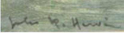 signature Jules René HERVÉ