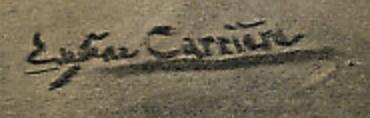 signature Eugène Anatole CARRIERE