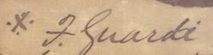 signature Francesco GUARDI