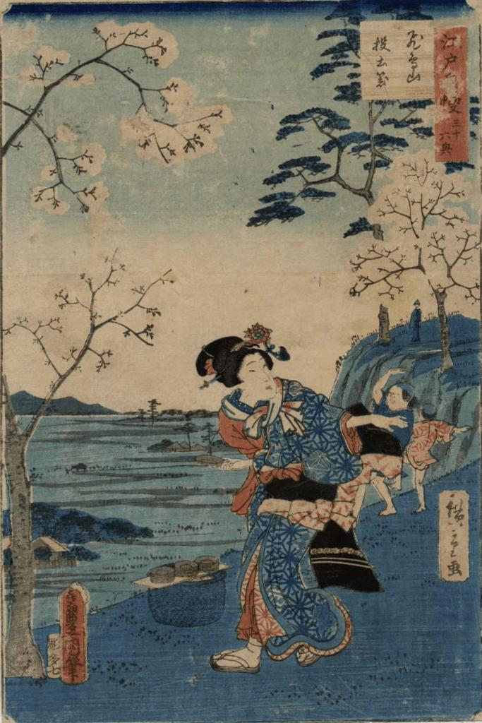 Estampe japonaise Hiroshige courtisane
