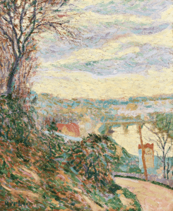 Huile sur toile Auguste Herbin