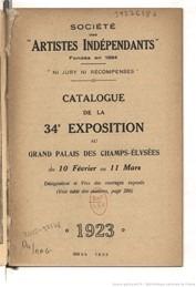 catalogue Salon des artistes indépendants