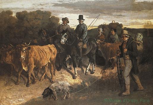Gustave Courbet, Les paysans de Flagey, 1850