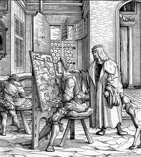 Hans Burgkmair l'Ancien, Le Jeune Roi blanc