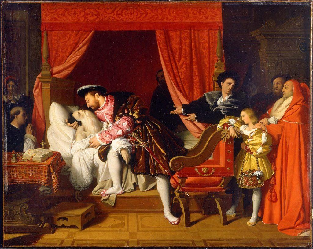 Mort Léonard de Vinci Ingres peinture Troubadour