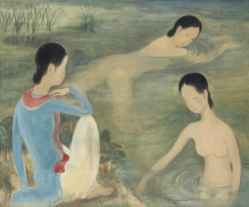 Vu Cao Dam, Femmes au bain