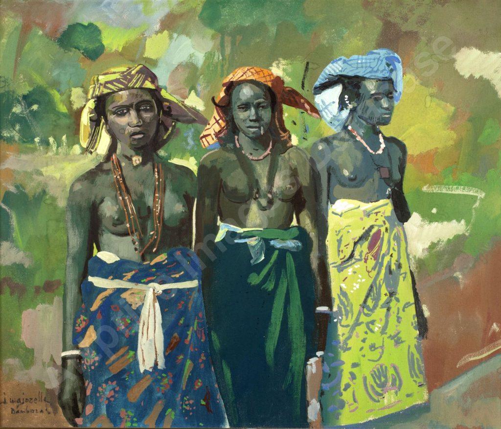 """Oeuvre """"Trois femmes Bambaras"""" de Jacques Majorelle"""