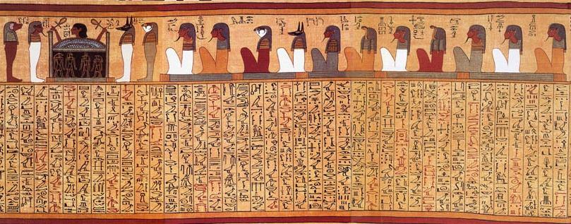 papyrus livre des morts enluminures