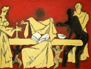 Peinture Maqbool Fida Husain