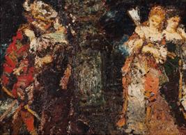 """Oeuvre """"Scène de parc"""" d'Adolphe Monticelli"""