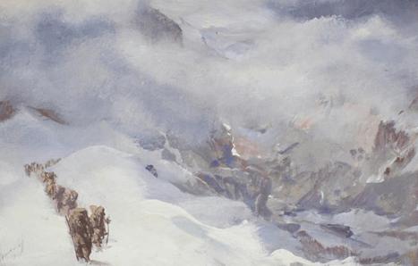 """Oeuvre """"La Croisière Jaune, passage du col du Bourzil"""" d'Alexandre Iacovleff, 1931"""