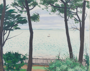 "Oeuvre ""Bassin d'Arcachon, jardin au Pyla"" d'Albert Marquet, 1935"