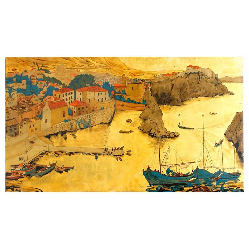 """Oeuvre """"Le port de Sarajevo"""" d'Alix Aymé"""