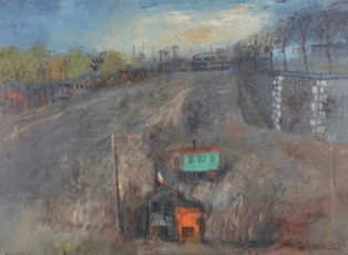 """Oeuvre """"Fortifications"""" de Youri P. Georges Annenkoff, 1929"""