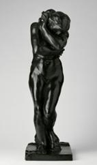 """oeuvre """"Eve, petit modèle à la base carrée et aux pieds plats"""" d'Auguste Rodin, 1881"""