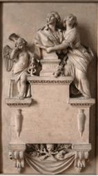 Bas-relief en terre cuite d'Augustin Pajou, 1785
