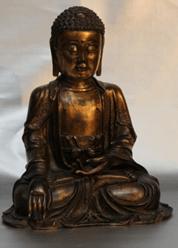 """Oeuvre """"Bouddha en bronze"""" du XVIIème siècle"""