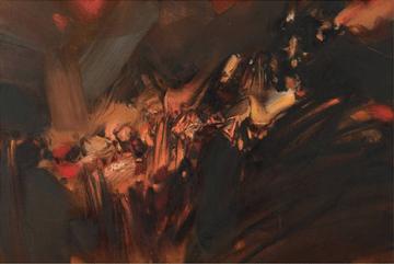 """Oeuvre """"朱德群"""" de Chu Teh-Chun, 1968"""