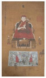 """Oeuvre """"Peinture chinoise sur soie"""", XIXème siècle"""