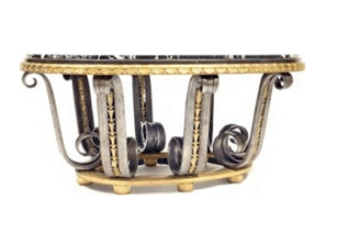 "Oeuvre ""Table d'apparat en fer forgé"" d'Edgar Brandt"