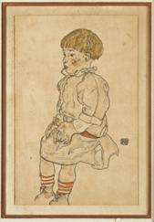 """Oeuvre """"Portrait d'Anton Peschka de profil"""" d'Egon Shiele, 1917"""