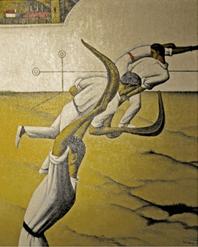 """Oeuvre """"Partie de yoko garbi"""" de Tobeen, 1915"""