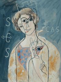 """Oeuvre """"La vierge de Montserrat"""" de Francis Picabia, 1928"""