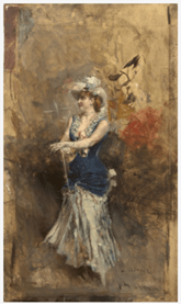 "Oeuvre ""La Réjane sur scène"" de Giovanni Boldini, 1878-84"