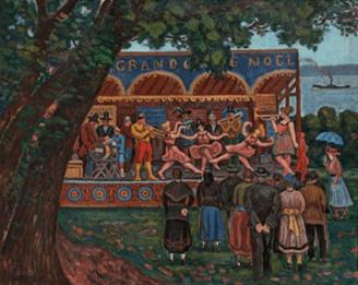 """Oeuvre """"Parade foraine"""" d'Henri Liénard de St Delis"""
