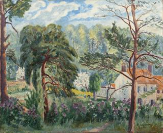 """Oeuvre """"Le printemps à la Reinerie"""" d'Henri Manguin, 1944"""