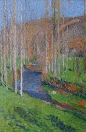 """Oeuvre """"Le vert en aval de la Bastide-du-Vert"""" d'Henri Martin"""