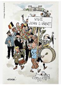 """Oeuvre """"L'armistice de 1945"""" en hommage à Jean Libert d'Hergé, 1945"""