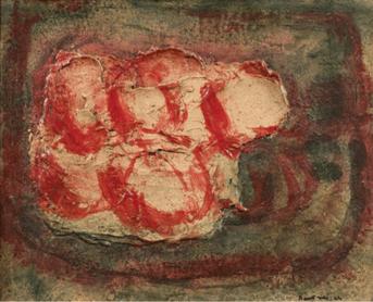 """Oeuvre """"Sans titre (Les pommes)"""" de Jean Fautrier, 1944"""