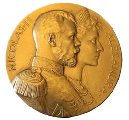 """Oeuvre """"Médaille en or gravée"""" de JC Chapelain"""