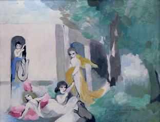 "Oeuvre ""Scène animée"" de Marie Laurencin"
