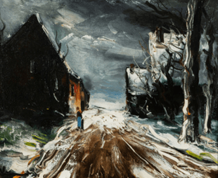 "Oeuvre ""Rue Enneigée"" de Maurice de Vlaminck"