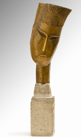 "Oeuvre ""Tête d'homme, Bouddha"" d'Ossip Zadkine, 1919"