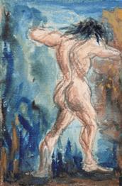 """Oeuvre """"Etude de figure"""" de Paul Cézanne, 1867-1870"""