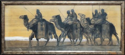 """Oeuvre """"Caravane de Touaregs Oullimindens"""" de Paul Jouve, 1931"""