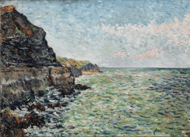 "Oeuvre ""Port-en-Bessin (étude n°2)"" de Paul Signac, 1883"