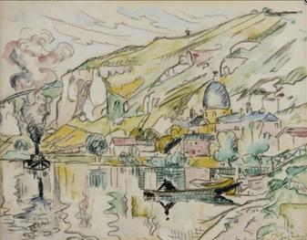 """Oeuvre """"Les Andelys"""" de Paul Signac, 1926"""