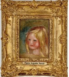 """Oeuvre """"Tête d'enfant"""" de Pierre-Auguste Renoir"""