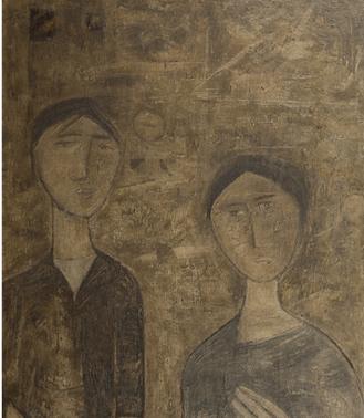 "Oeuvre ""Couple"" de Ram Kumar"