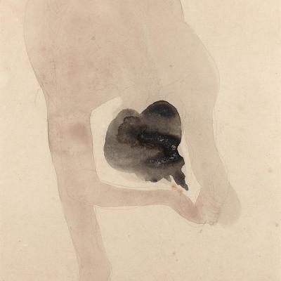 """Oeuvre """"Femme nue penchée en avant"""" d'Auguste Rodin, 1896-1898"""