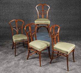 """Oeuvre """"4 chaises de style Art Nouveau"""" de Victor Horta, 1895-1896"""