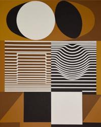 "Oeuvre ""Dallam"" de Victor Vasarely"