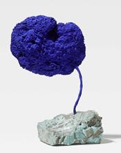 """Oeuvre """"Sculpture Eponge Bleue"""" sans titre d'Yves Klein, 1959"""