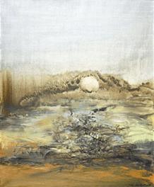 """Oeuvre """"Sans titre"""" de Zao Wou-Ki, 1966"""