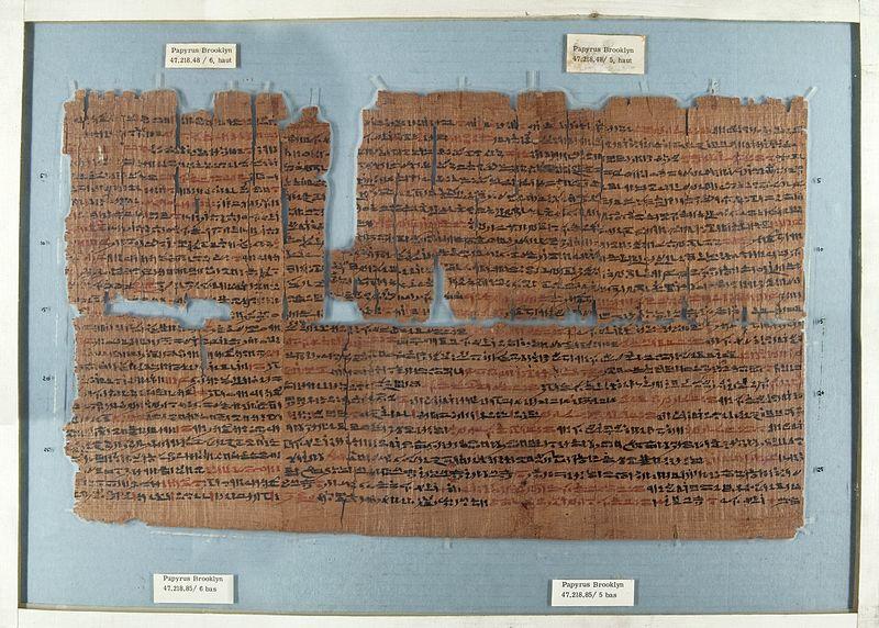 papyrus encre rouge et noire